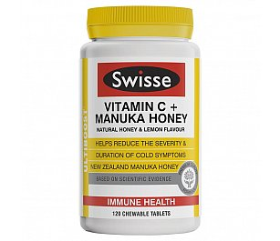 Swisse Ultiboost Vitamin C Manuka Honey Chewable Tablets