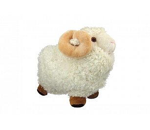 Prokiwi Soft Toy - Sheep with Horn (Medium)