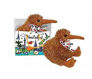 Prokiwi Soft Toy - Native Kiwi with voice in Bag