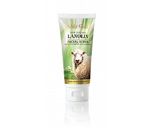 Wild Ferns Lanolin Facial Scrub with Cucumber and Avocado