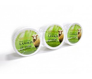 Wild Ferns Lanolin Lip Balm with Shea Butter 15g 3pk