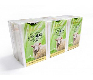 Wild Ferns Lanolin Soap 135g 6pk