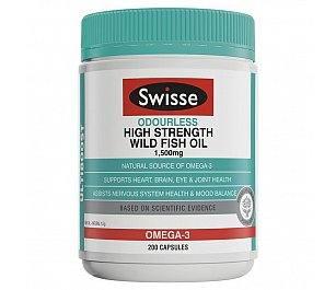 Swisse Odourless Wild Fish Oil 1500mg
