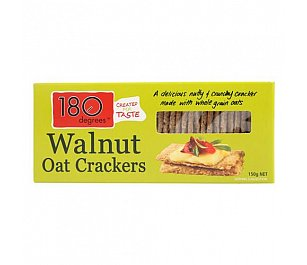 180 Degrees Walnut Oat Crackers (Wheat Free)