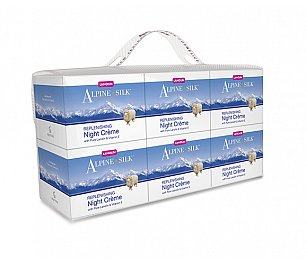 Alpine Silk REPLENISHING Night Crème 6+1pk