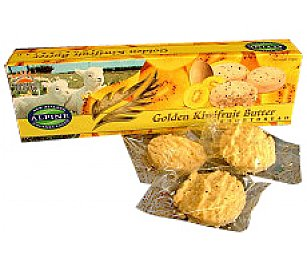 Alpine Gourmet Golden Kiwi Fruit Shortbread