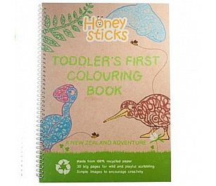 Honeysticks Toddler's First Colouring In Book - A New Zealand Adventure