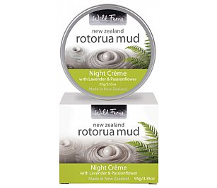 Parrs Rotorua Mud Night Creme with Lavender & Passionflower 95g