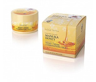 Wild Ferns Manuka Honey Rebalancing Night Creme - Combination to Oily